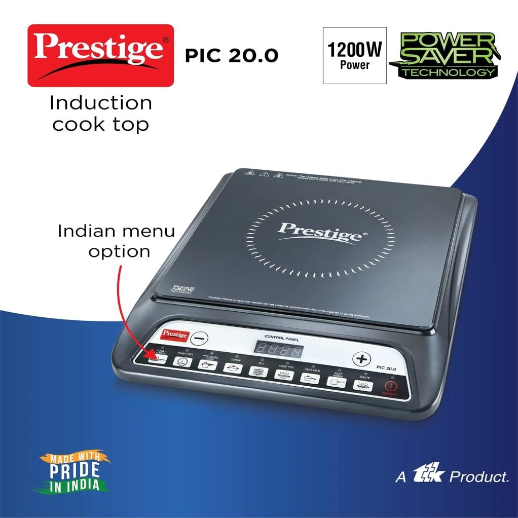 Prestige PIC 20.0 1600 W Induction Cooktop (Black, Push Button)